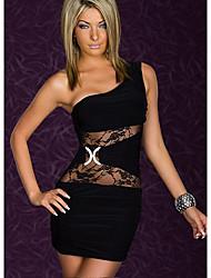 Sweet Women's One Shoulder Lace Bodycon Dress
