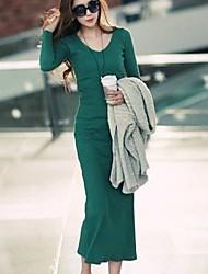 sanfenzise ™ Frauen mit V-Ausschnitt bodycon maxi plus Größenkleid