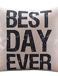 Best Day Ever Cotton/Linen Decorative Pillow Cover