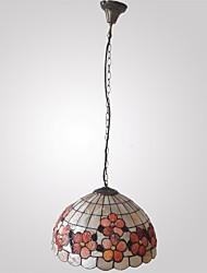 120W élégant Tiffany lumière pendante avec Colorful Nature Matériel de Shell Shade intégré