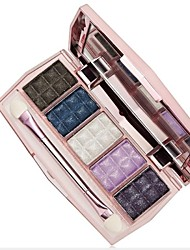 Pro 5Color Shining Warm Earth Eyeshadow Cosmetic Makeup Palette with Eye Brush(6 Styles)