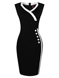 MS preto das mulheres e Branco Vestido Magro