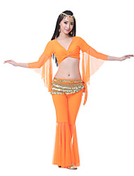 Performance Women's Tulle Belly Dance Outfits-Including Top,Bottom,Belt(More Colors)