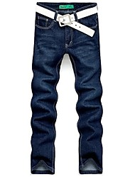 Casual rectas largas piernas delgadas Jeans Fit Denim Pants