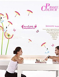 Doudouwo® Romance Let Love Fly Colorful Dandelion Wall Stickers