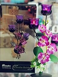 style européen phalaenopsis mauve candélabre