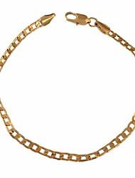 Unisex de la nueva llegada de la venta plateó Hot oro de 18 quilates en forma de cadena de la manera de la pulsera SL0064