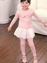Girl's Fashion Joker Beautiful Rose Leggings