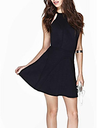 Damen Sling Slim Short Black Dress