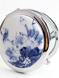 1 pcs portáteis handmake esmalte retro e cerâmicas dobráveis espelho de maquilhagem