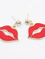 MISS U Women's Red Lip Earrings