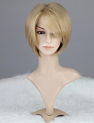 Women Capless Fashion Short Straight Synthetic Wig with Full Bang