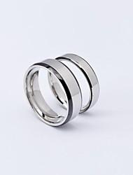 anti-radiação casal de aço de titânio anéis / anéis PROMIS simples para casais