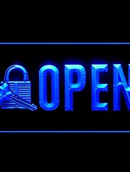 Open Locksmith Key Cutting Advertising LED Light Sign