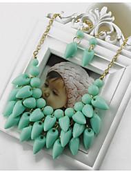 Z & G koreanischen Stil Harz Tropfenform Kurze Halskette