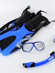 Summer Pool Swimming Equipment All Dry Silicone Snorkeling Tube Snorkel Gear Flippers Diving Mask with Myopic glasses