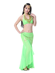 Performance Women's Sexy Satin Belly Dance Fishtail Outfits-Including Top And Skirt(More Colors)