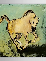 Hand Painted Oil Painting Animal Running Horse with Stretched Frame