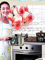 FLORALS les roses Saff anti-pétrole stickers muraux