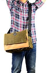 DSTE bolsa de ombro da lona para Canon / Nikon / Sony / Samsung fuji / pentax / câmera SLR / Panasonic