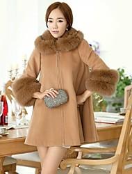 Taichang ™ Женская меховым воротником кашемировые пальто