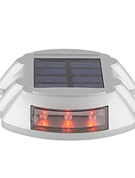 energia solar ao ar livre estrada calçada doca caminho etapa lâmpada de luz vermelha-iluminação com 6 led