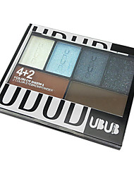 Four Colors Eyeshadow Powder and Two Colors Brow Powder