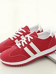 Sapatos Caminhada Feminino Preto / Vermelho / Branco Lona