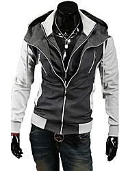 REVERIE UOMO Western Style Silm dress Contrast Color Hoodie Tops