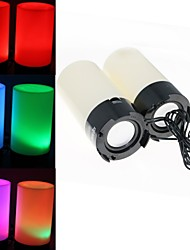 Sound Activated Dancing RGB Mood Light Stereo Speakers (USB Powered)