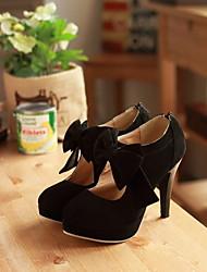 Zapatos de mujer - Tacón Stiletto - Tacones / Plataforma - Tacones - Oficina y Trabajo / Vestido - Ante - Negro