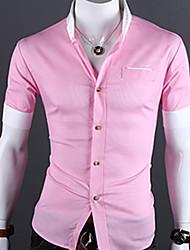 мужская лацкане шеи оболочка короткий рукав рубашки