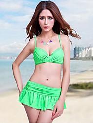Stile Europeo Large Size donna Foclassy Costumi da bagno Abiti Bikini Adatto a M ~ 3XL