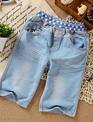 2014 otoño nuevo estilo coreano Elganso Boys 'Worn Jeans Shorts