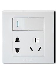 VISBO K11C23 3.0 Series Single Control Five Socket Power Outlet Switch