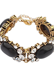 Women's Punk Large Beaded Rhinestone Chain Link Bracelets (More Colors)(1pc)