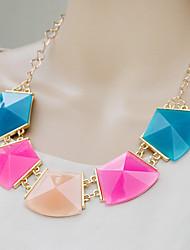 Mode bunte Halskette kleinen Frauen