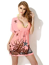 Women's Colloyes  Sexy Coral Beach Dress Swimwear