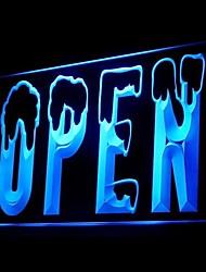 Открыть Рыболовный магазин Реклама светодиодные Вход