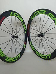 700C New UDELSA 20.5mm Wide Carbon Wheels Tubular 60mm Deep Bicycle Wheelset with R13 Hubs