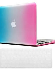 Beautiful Rainbow Pattern PC Hard Case with Keyboard Cover Skin for MacBook Pro