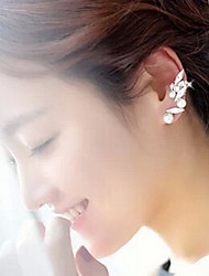 Ear Cuffs Pearl Imitation Pearl Rhinestone Alloy White Jewelry Party Daily Casual