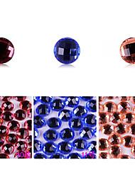yemannvyou®10pcs alto grau de base plana strass Decorações Nail Art no.10-12 (cores sortidas)