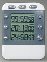3-канальный кухонный таймер напоминание, Пластиковые 3.5'' x2.7'' x0.6''