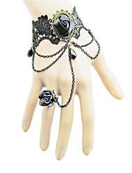 Coolshine pulsera europea del cordón con los anillos-2014-201-LSL066