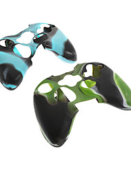 2pcs Camouflage Protective Silicone Skin Case for Xbox360 Controller
