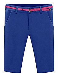 Women's Blue/Black/Beige Straight/Shorts Pants , Vintage/Bodycon/Casual/Work