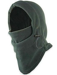 Double CS Fleece Thick Black  Balaclavas Or Counter Mask Windproof Hat Masked Or Ski Cap  Adjustable Size