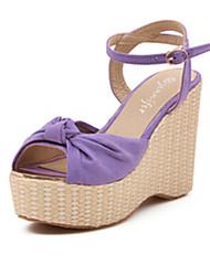 IPIEN Bowknot Slipsole Leisure Sandal (Purple)