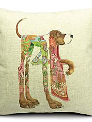 cão preguiçoso algodão / linho fronha decorativo